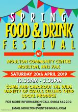 Spring Food & Drink Festival 10.30am-3.30pm at Moulton Community Centre