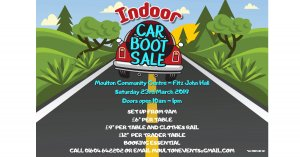 Indoor Car Boot Sale - Sat 23rd March @ 10am