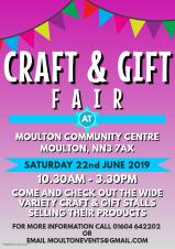 Craft & Gift Fair - Moulton Community Centre - 10.30am - 3.30pm