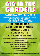 Gig in the Gardens - Public Gardens, Church Street, Moulton, from 2pm