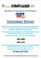 Volunteer Drivers needed for our Car Scheme!