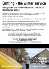 Gritting - the winter service