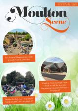 Picture shows the front cover of the Moulton Scene newsletter